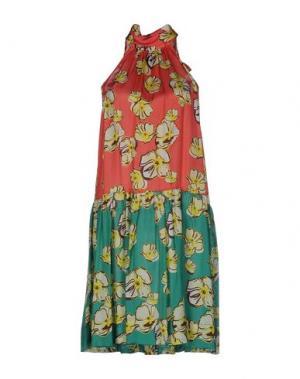 Короткое платье GARAGE NOUVEAU. Цвет: коралловый
