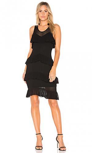 Сеточное вязаное платье talulah Ronny Kobo. Цвет: черный
