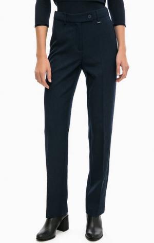 Базовые брюки прямого кроя olsen. Цвет: синий