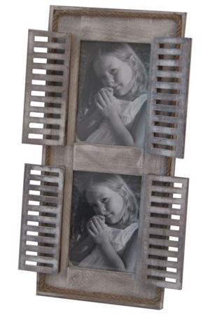 Фоторамка на 2 фото 48x21 Davana. Цвет: белый