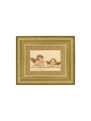 Набор для вышивания 2 Raphaelkopjes /Два ангела. Рафаэль/ 15*10см Vervaco. Цвет: коричневый, светло-коричневый