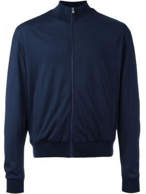 Zipped lightweight jacket Corneliani. Цвет: синий