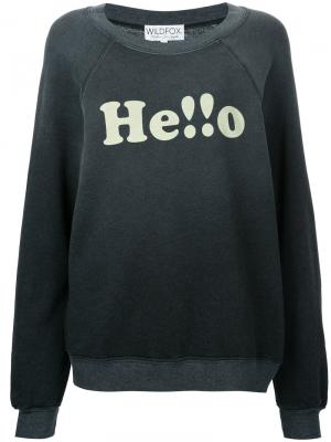 Hello sweatshirt Wildfox. Цвет: серый