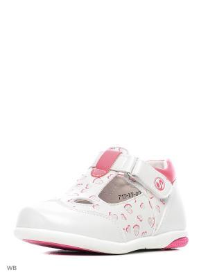 Туфли Flamingo. Цвет: серебристый, белый