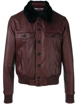 Куртка-бомбер с шерстяным воротником Kenzo. Цвет: розовый и фиолетовый