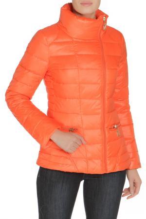 Полуприлегающая куртка с карманами MALINARDI. Цвет: оранжевый