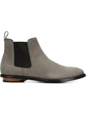 Ботинки по щиколотку на деревянном каблуке Valas. Цвет: серый