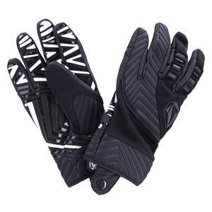 Перчатки  Atlantic PipeBlack Volcom. Цвет: черный,белый