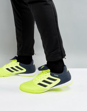 Adidas Желтые футбольные бутсы для игры в зале Copa Tango 17.3 S77147. Цвет: желтый