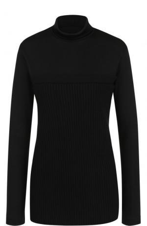 Шерстяной свитер фактурной вязки Yohji Yamamoto. Цвет: черный