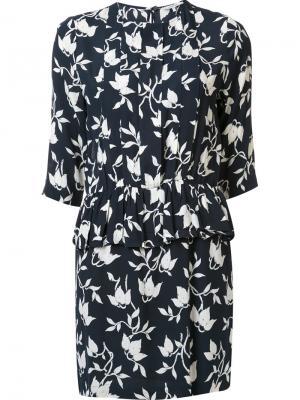 Креповое платье Maxwell Ganni. Цвет: синий