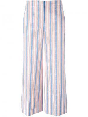 Широкие брюки в полоску Tory Burch. Цвет: синий