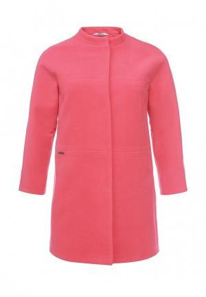 Пальто Electrastyle. Цвет: коралловый
