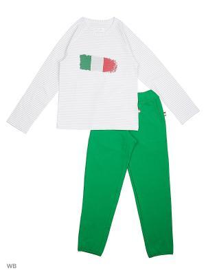 Пижама Ritta Romani. Цвет: белый, зеленый, светло-серый