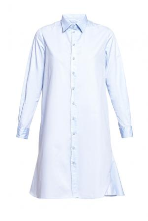 Платье-рубашка из хлопка 187010 Cyrille Gassiline. Цвет: синий