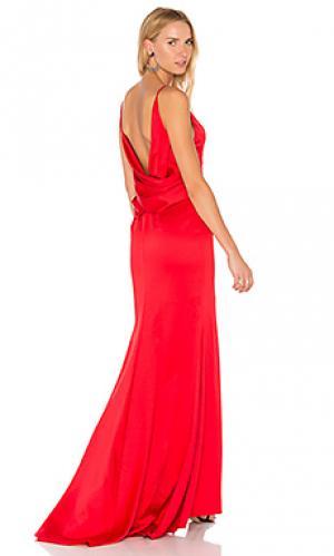 Вечернее платье davina Elle Zeitoune. Цвет: красный