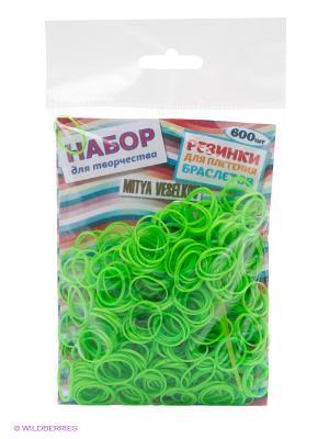 Резиночки для плетения браслетов Mitya Veselkov. Цвет: зеленый