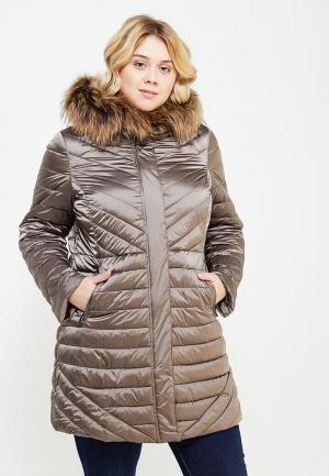 Куртка утепленная Elena Miro. Цвет: бежевый
