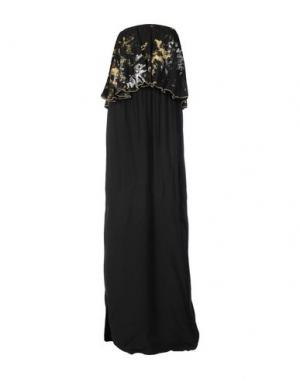 Длинное платье MONICA •LENDINEZ. Цвет: черный