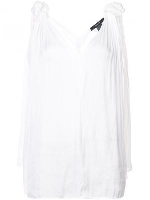 Блузка с узлами на плечах Smythe. Цвет: белый