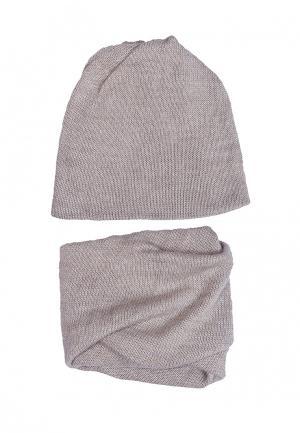 Комплект шапка и шарф FreeSpirit. Цвет: бежевый