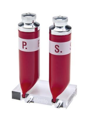 Набор для соли и перца P.S. Contento. Цвет: красный