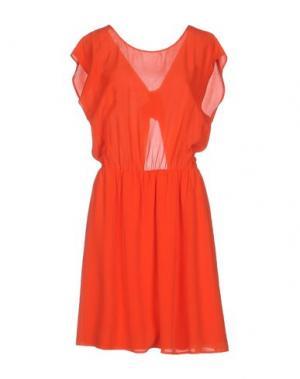 Короткое платье DES PETITS HAUTS. Цвет: красный