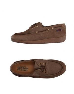 Обувь на шнурках SEBAGO DOCKSIDES. Цвет: хаки