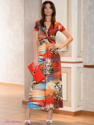Платье МадаМ Т. Цвет: оранжевый, бордовый, голубой, бежевый, красный