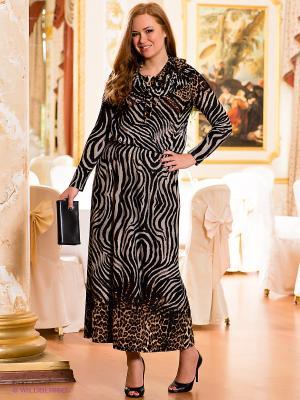 Платье МадаМ Т. Цвет: серый, коричневый, черный
