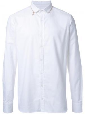 Рубашка с воротником Kolor. Цвет: белый