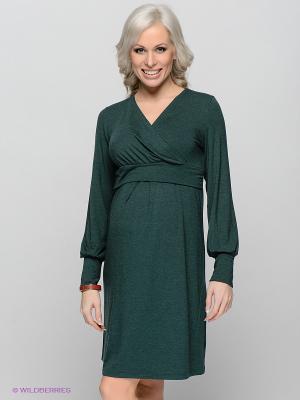 Платье для беременных и кормящих ФЭСТ 05514Е/изумруд