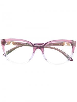Градиентные очки кошачий глаз Tiffany & Co.. Цвет: розовый и фиолетовый