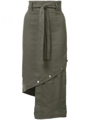 Асимметричная юбка Robert Rodriguez. Цвет: зелёный