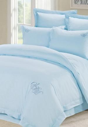 Комплект постельного белья Евро Sofi De Marko. Цвет: голубой