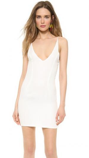 Мини-платье с перекрещивающимися бретельками на спине Olcay Gulsen. Цвет: белый