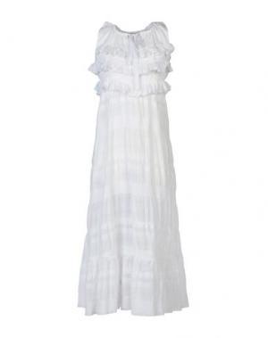 Длинное платье LOVE MOSCHINO. Цвет: белый