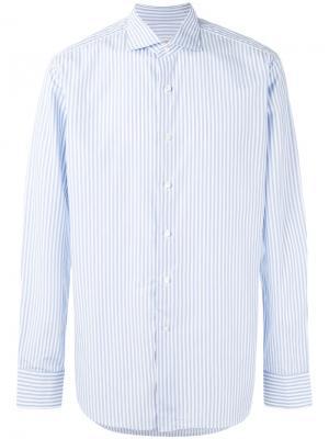 Полосатая футболка Alessandro Gherardi. Цвет: синий