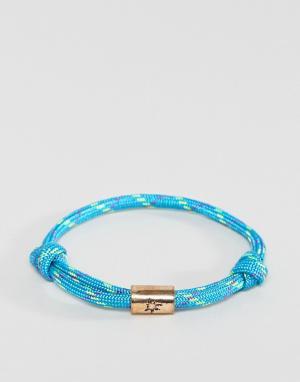 Classics 77 Синий браслет-шнурок. Цвет: синий