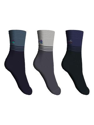 Носки, 3 пары Master Socks. Цвет: серый, темно-синий, черный