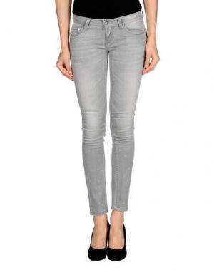 Джинсовые брюки HANNY DEEP. Цвет: серый