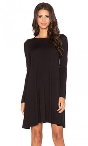 Платье с длинным рукавом BLQ BASIQ. Цвет: черный