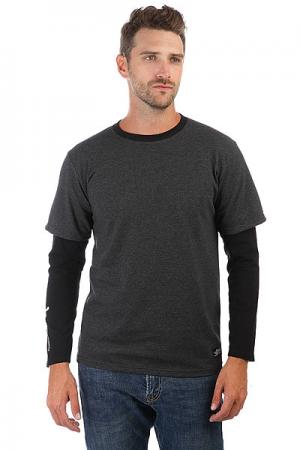 Лонгслив  Long047 Grey Heather Anteater. Цвет: серый,черный