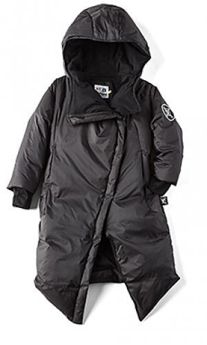 Длинное пальто Nununu. Цвет: черный