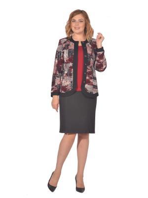Жакет Томилочка Мода ТМ. Цвет: черный, бордовый, темно-серый