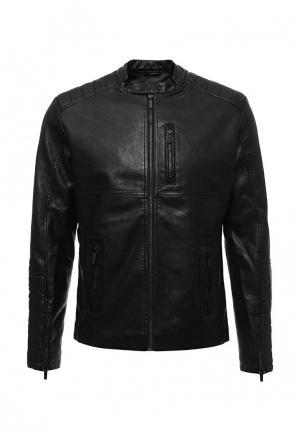 Куртка кожаная Medicine. Цвет: черный