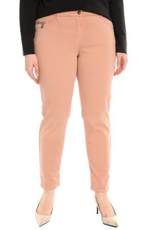 Зауженные брюки с карманами Luisa Cerano. Цвет: темно-пудровый