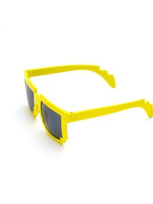 Пиксельные очки MASKBRO. Цвет: желтый