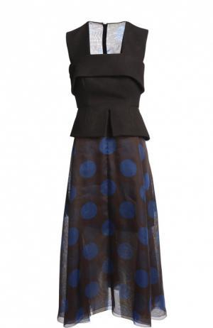 Платье Delpozo. Цвет: черный