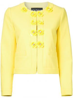 Жакет с пуговицами-цветами Boutique Moschino. Цвет: жёлтый и оранжевый